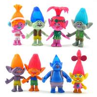 Wholesale Troll Wholesale - 2016 Movie Trolls Dolls 8pcs set Trolls Poppy Branch Biggie PVC Figures Toy 10cm For Gift