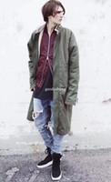 melhores jaquetas do exército venda por atacado-Melhor Versão Medo De Deus Mulheres Homens Jaqueta Casacos de Inverno Hiphop NEVOEIRO Exército Verde Cortar Casacos Casaco Longo Quente Lambswool Dentro