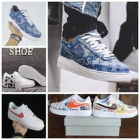 Wholesale Quality W - Off White x Air Shoes Vlone 1 Pauly Colorways Comme Des Garcon Top quality Low Men Womens Skateboarding Shoes