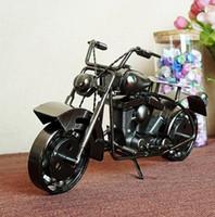 el yapımı metal araba modelleri toptan satış-BÜYÜK El Yapımı metal modeli motosikletler Demir Motosiklet Modelleri Metal Zanaat Adam Hediye Iş Hediyeler için Ev Dekorasyon araba