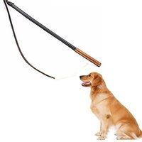 tren talón al por mayor-Entrenadores profesionales para mascotas Heeling Stick de cuero genuino 100% productos de perros hechos a mano para mascotas de entrenamiento