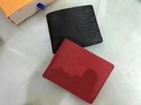 Wholesale Red Checkbook Wallet - best quality 2017 men leather brand classic luxury wallet casual short designer card holder holder pocket fashion wallets men wallet