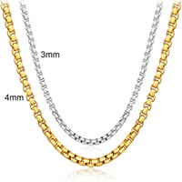 Wholesale Mens 925 Bracelets - High Quality Unisex 3mm & 4mm Gold Chains 18k Real Gold 925 Silver Chains Basic Mens Hip Hop Jewelries YDHX212