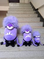 Wholesale Evil Minions - 171217 Despicable me 2 Purple Evil Minions Dave Stuart Tim Mark 3D Plush doll toy Christmas Gift For Children kids