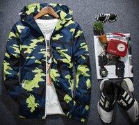 Wholesale Cargo Jackets - 2017 Men Casual Bomber Jackets Autumn Summer Pilot Jackets Cargo Coat Man Camouflage Jacket Thin Hooded 3m Reflective Top XT414