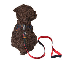Wholesale Necklace Training For Dogs - Cowboy Dog Harness Adjustable Training Vest With Dog Leash Safety Collar For Dogs Pet Vest Pets Necklace Chain Spring Autumn G-005
