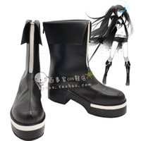 Wholesale Vocaloid Halloween Costumes - Wholesale-Vocaloid Black Rock Shooter strength OVA ver Cosplay Boots shoes shoe boot #NC418 Halloween Christmas