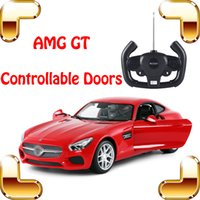 Wholesale Electric Motor Door - New Arrival Gift AMG GT 1:14 RC Remote Control Car Doors Controllable Vehicle Roadster Model Die-cast Outdoor Indoor Fun Game