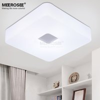 Wholesale Ceiling Lights Cube - Wholesale-Contemporary LED Rectangle ceiling light White Acrylic Cube LED lighting fixture different size ceiling lamp for Hallway foyer