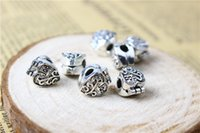 Alloy Charm Bead Clips Lock Dad Antique 925 Banhado a Prata Retro European Style Jóias Findings E Componentes Para Pandora Bracelet D610
