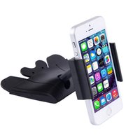 Wholesale Hand Made Mobile Phone - Universal car cd holder for iphone 6s SE mobile phone 360 degrees mount holder for iphone samsung soporte free your hand to make call