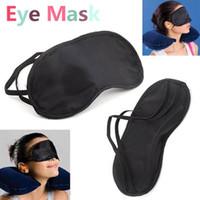 Wholesale Travel Rest - Eye Sleep Masks Eye Mask Shade Nap Cover Blindfold Sleeping Sleep Travel Rest H1996 Black