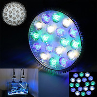 Gros-Full Spectrum Led Aquarium Lumières E27 54W 6white 6blue 6 greeen LED Coral Reef Grow Light High Power Fish Tank Lampe LED Ampoules