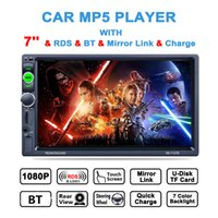 Wholesale Hd Radio Rds - 7 Inch 2 DIN Bluetooth In Dash HD Touch Screen Car Video Stereo Player AM FM RDS Radio Support Mirror Link Aux In Rear View Camera CMO_222