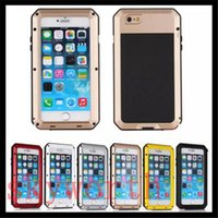 Wholesale Iphone 4s Aluminum Cases - Aluminum Metal Case Gorilla Tempered Glass Screen Shockproof Cover For iphone 4S 5S 6 6S plus Samsung Galaxy S3 S4 S5 S6 Edge