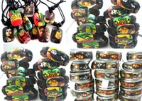 Wholesale Black Rasta - Brand New Bob Marley Rasta Jamaica Reggae Mixed men's Jewelry Rings Necklaces Bracelets wholesale job lots