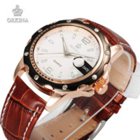 Wholesale Orkina Quartz - Fashion Leather Watches Women Quartz Wristwatches ORKINA Ladies Business Casual Watch Gift For Women With Box