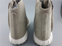 Martin Boots paisley discount fabric - 2016 New Arrival Kanye West Boost Light Grey Outdoor Sneakers Discount Athletics Casual Trainers Fashion Trainning with box DHL shippme