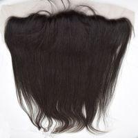 ingrosso merletto pieno malysian yaki-Frontal del merletto dei capelli umani della luce yaki leggera malese 13x4 '' parte centrale libera piena di merletto dei 3 lati di Yaki dei 3 fronti bianchi candeggiati con i capelli del bambino