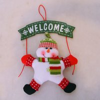 Outdoor Christmas Decoration outdoor wall ornaments - Christmas props ornaments top home house garden dressed decoration Santa claus snow men Xmas Door Window wall Pub Bar hanging Decoration