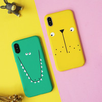 Case for iphone X 6 6s plus Fashion Hard PC Telemóvel Protetor Back Cover Cute Crocodile Lion Deer Sheep Panda Cat Cases