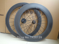 Wholesale 88mm Carbon Rims - New 700C front 60mm+rear 88mm clincher rim Road bike aero 3K 12K UD full carbon bicycle wheelsets 20.5  23  25mm width Free ship