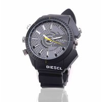 Wholesale Waterproof Wristwatch Hidden Cameras - 8GB HD 1080P Spy DVR Watch Camera Waterproof Hidden Camera Wristwatch IR Night Vision Security Camcorder Mini Video Camera