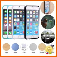 Wholesale Iphone Battery Stick - Anti Gravity Nano Suction Magic Technology Stick Phone Case Cover For iphone 5 5S 6 6S Plus