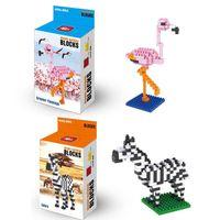 Wholesale Wholesale Kangaroo Toys - Bricks Blocks Minifig Flamingo Decoration Small Particle Building Blocks Toys Gifts Flamingo Chipmunk Mallard Kangaroo Elder Block Puzzle 17