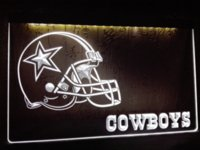 LD317- Dallas Cowboys Helmet NR Bar LED Neon Light Sign signe canaux signe solaire signe pdf