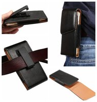 Wholesale Iphone 4s Belt Holster - 360 Degree Universal Hip Holster Sheep Leather Clip Case For Iphone 7 6 6S 4 4S 5 5S Galaxy S7 Edge Plus S6 Note7 5 4 3 Hasp Hook Belt Pouch