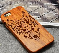 Nuevo Bamboo Wooden For Iphone 6 5 6s Plus Funda Personalizar Grabado Diseño Madera PC TPU Dual Case Shell