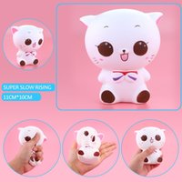 Wholesale Animal Smile - Wholesale 20pcs Squishy rare squishy jumpo kawaii Cute Smile cat animal slow rising charm toys kids gift scented bread Free Shipping