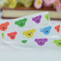 "Wholesale Ribbon 9mm Flower - Free shipping 3 8"" 9mm Colorfull Bright Flowers Printed grosgrain ribbon,hairbow DIY handmade clothing materials 50yards OEM"