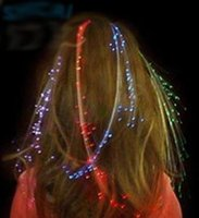 Wholesale Led Light Wigs - New Light braids colorful fiber LED light hair clip bride hair accessories Christmas party