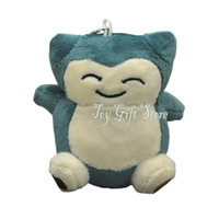 "Wholesale Pocket Pikachu - Hot Snorlax 4"" 10cm Poke Pocket Monsters Plush Doll Figure Pikachu Animals For Baby Gifts New"