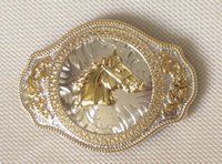 Wholesale Bull Buckles - Bull belt buckle with gold and silver finish SW-BY136 suitable for 4cm wideth belt with continous stock