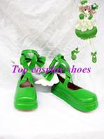 Wholesale Amu Cosplay - Wholesale-Freeshipping anime Shugo Chara Hinamori Amu Green Cute Cosplay Shoes boots Hand made Custom made for Halloween Christmas