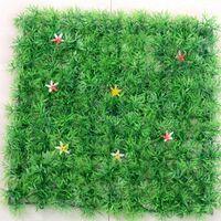 cryptage gratuit achat en gros de-Simulation artificielle de cryptage Plastique Pelouse Étoile Flower Grass Mat pour décoration de mariage Jardin Accueil Livraison gratuite