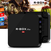 R Box Plus 2GB 16GB Rockchip RK3328 Android 7.1 caixas de TV OTT 4K Streaming Media Player RKMC 17.4 USB 3.0