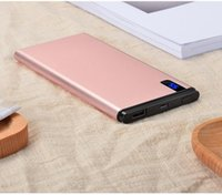 Wholesale External Lithium Battery Usb - Factory direct large capacity 20000mAh universal power dual USB ultra-thin lithium polymer mobile phone portable external battery charger mo