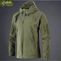 Wholesale Short Hunting Jacket - Fall-[Nutaka]Men clothing tactical fleece jacket warm men's short plush fleece outdoor sports army military jackets hunting coats