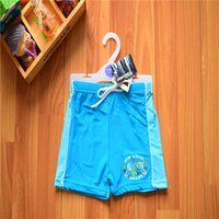 Wholesale Swimming Pants For Children - 2-6T 2016 New Baby Boys Brand Swimwear Kids Board Shorts in Blue Beach Pants Boy Bathing suit Boxer for Children
