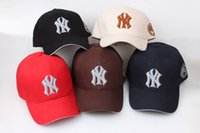Wholesale Men Sun Visors - Now 2017 Baseball Cap NY Embroidery Letter Sun Hats Adjustable Snapback Hip Hop Dance Hat Summer Outdoor Men Women Visor free shipping