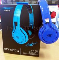 Wholesale Sms Street Dj Headphones - SMS Audio Ear Headphone 50 Cent Noise Cancel Headphone Gaming Bike Frame Headset DJ Apple Iphone Earphone Headphone 50cent SMS Audio STREET