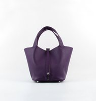 Wholesale Ladies Leather Drawstring Bag - Mini Lady Bucket Bag 8Colors Handbag Genuine Leather Drawstring Fashion Brand Tote 5A Grade Gift Package(Card,Dust Bag)#8615S