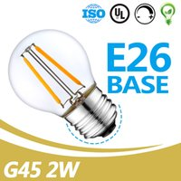 Prezzo all'ingrosso 2W G45 Classico Edison Glass Bulb Bulb High Lumen Forma di globo Lampadina a Led UL Listed