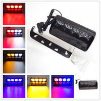Wholesale 24v police lights - Car Truck Styling 16 LED Car Police Strobe Flash Light Dash Emergency Warning Flashing Fog Lights 12V 24V 48W S16 1PCS