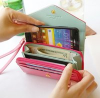 """Wholesale Girl Iphone 4s Wallet - 5.5"""" Wallet Case Women Girl PU Leather Pouch Cover For iPhone 4S 5S 5C 6 6S Plus Lovely Luxury Case For Samsung Galaxy S3 S5 S6"""