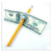 Wholesale Dollar Pen - 50pcs lot Details Funny Close-up Magic Pen Penetration Through Paper Dollar Bill Money Trick Tool